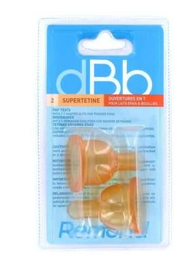 Dbb Remond dBb Remond 144400 Pack of 2 Rubber Air Regulation Teats Stage 2