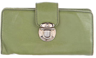 Marc Jacobs Marc Jacobs Leather Push-Lock Wallet