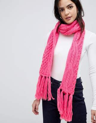 Vero Moda cable knitted scarf