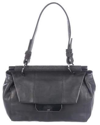 Halston Smooth Leather Satchel