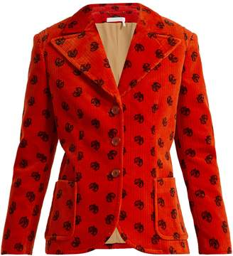Chloé Printed corduroy jacket