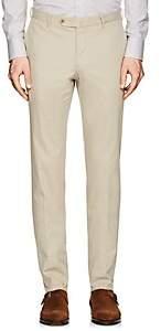 Incotex Men's S-Body Slim-Fit Cotton-Blend Twill Trousers - Beige, Tan