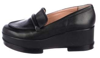 Rob-ert Robert Clergerie Leather Platform Loafers