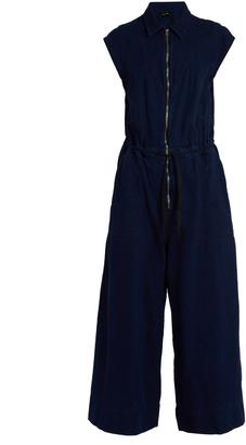 RACHEL COMEY Paz zip-through wide-leg cotton jumpsuit $495 thestylecure.com