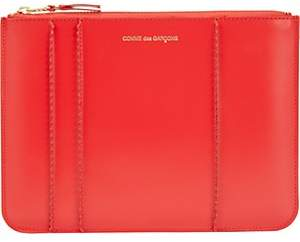 Comme des Garcons Men's Raised Spike Large Zip Pouch - Red