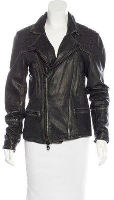 AllSaints Leather Moto Jacket $245 thestylecure.com
