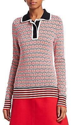 Carven Women's Textured Polo Shirt