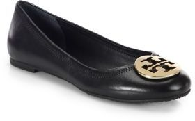 Tory Burch Reva Leather Ballet Flats $225 thestylecure.com