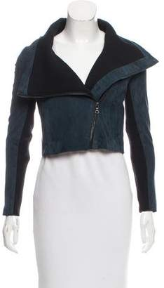 Yigal Azrouel Cropped Suede Jacket w/ Tags