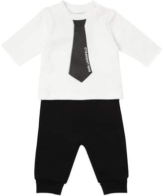 Karl Lagerfeld Paris COTTON JERSEY T-SHIRT & SWEATPANTS