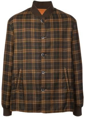 Barena plaid bomber jacket