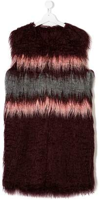 John Richmond Kids TEEN faux fur gilet