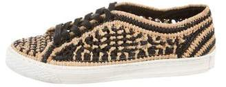 Loeffler Randall Woven Low-Top Sneakers