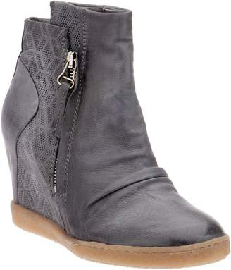 Miz Mooz Leather Wedge Ankle Boots - Alexandra