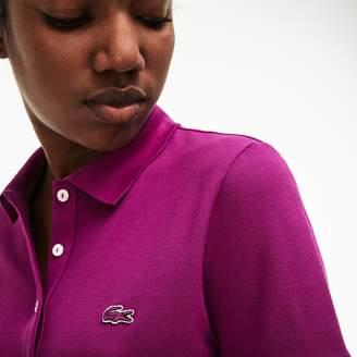 Lacoste Women's Slim Fit Stretch Mini Cotton Pique Polo Shirt