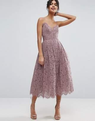 ASOS Lace Cami Midi Prom Dress $113 thestylecure.com