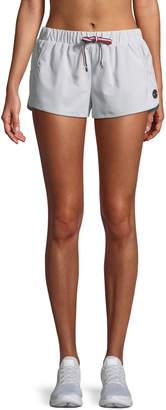 The Upside Dupont Striped Drawstring Running Shorts