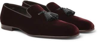 Tom Ford William Leather-Trimmed Velvet Tasselled Loafers
