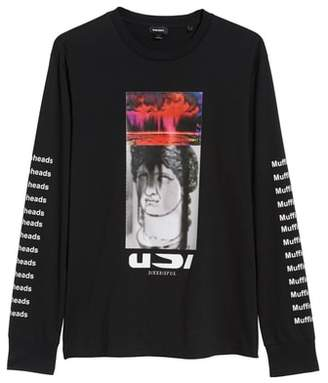 Diesel R) Large-X Graphic Long Sleeve T-Shirt