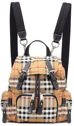 Burberry The Small Rucksack checked backpack