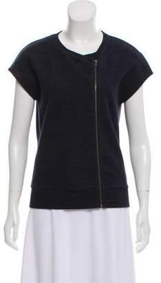 J Brand Short Sleeve Wool-Blend Top