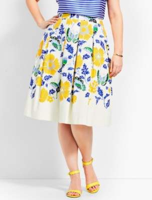 Talbots Full Flowered Skirt