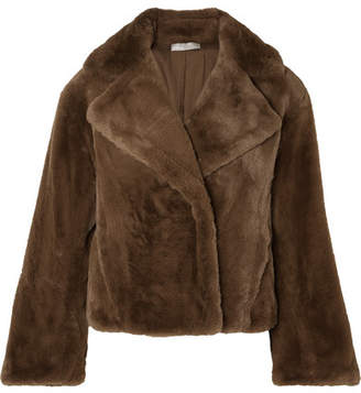 Vince Faux Fur Coat - Brown