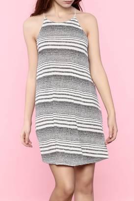 Everly Black Stripe Dress $44 thestylecure.com