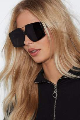 Nasty Gal Shaping Up Nicely Oversized Shades