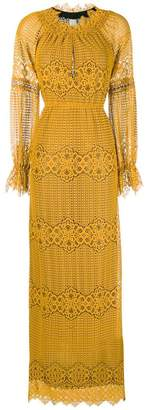 Pinko embroidered maxi dress