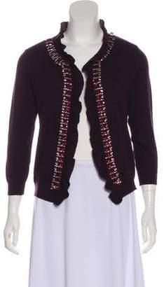 Valentino Virgin Wool Embellished Cardigan