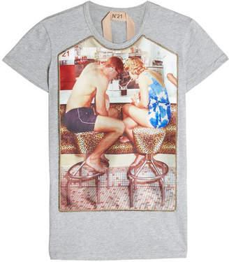 N°21 N21 Printed T-Shirt with Embellishment