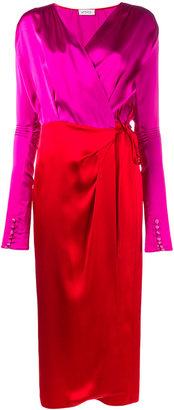 Attico - Gabriela long sleeve wrap dress