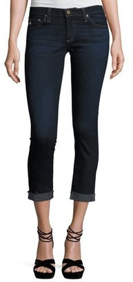 AG The Silt Roll-Up Cropped Cigarette Jeans, 4 Years Workroom $205 thestylecure.com