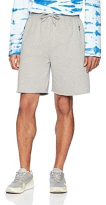 Flying Ace Men's Fleece Raw Edge Shorts with Logo Embroidery