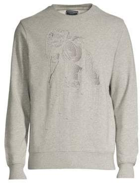 PRPS Navicular Embroidered Cotton Sweatshirt