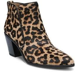 Franco Sarto Orchard Leopard Print Calf Hair Booties