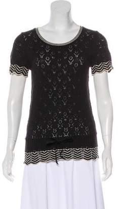 Tibi Short Sleeve Knit Top