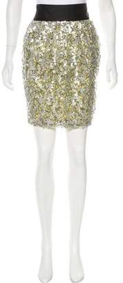 Robert Rodriguez Sequined Knee-Length Skirt