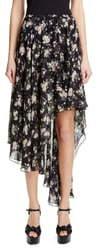 Michael Kors COLLECTION Asymmetrical Silk Chiffon Dance Skirt