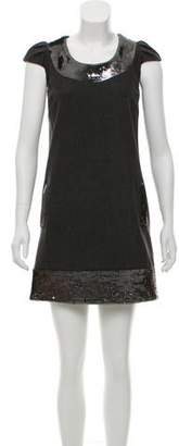 Calypso Wool Sequin Embellished Dress