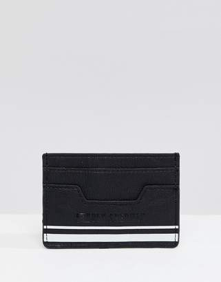Ben Sherman logo pu card holder in black and white