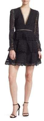 Zimmermann Talia Tiered Swirl Lace Dress