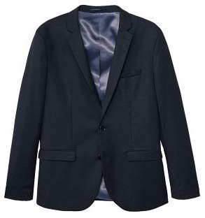 MANGO Slim-fit patterned suit blazer