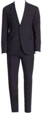 Emporio Armani M Line Navy Stretch Wool Suit