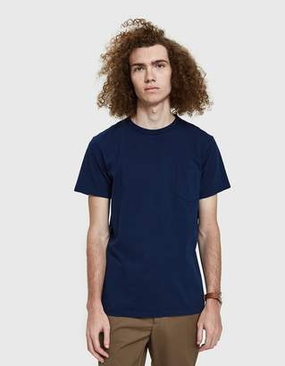 Velva Sheen Indigo Pocket Tee in Blue