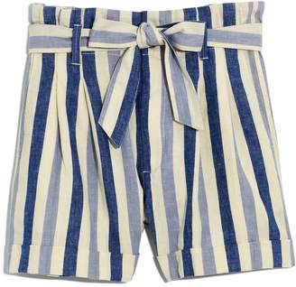 Madewell Stripe Paperbag Shorts