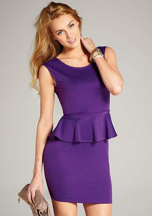 Blu Heaven Justina Peplum Dress