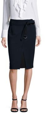 KOBI HALPERIN Wrap-Front Slim Pencil Skirt $258 thestylecure.com