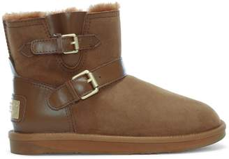 Australia Luxe Collective Co. Machina X Short Tan Double Faced Sheepskin Ankle Boots